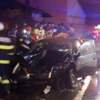 Accident în Focșani, șase persoane implicate, 3 copii răniți
