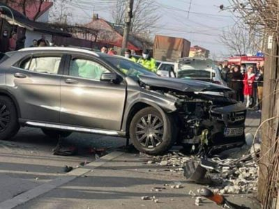 Imagini tulburătoare cu accidentul din București în care au murit două fetițe