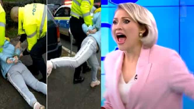 Mirela Vaida atacată la Acces Direct de o femeie cu un bolovan