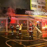 Incendiu devastator la un restaurant din București. Flăcări uriașe