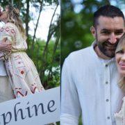 Primele imagini de la botezul fetiței lui Smiley și Gina Pistol