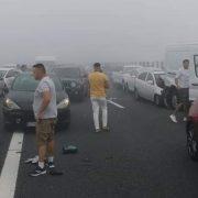 Accident în lanț pe Autostrada Soarelui. A fost activat Planul Roșu de Intervenție