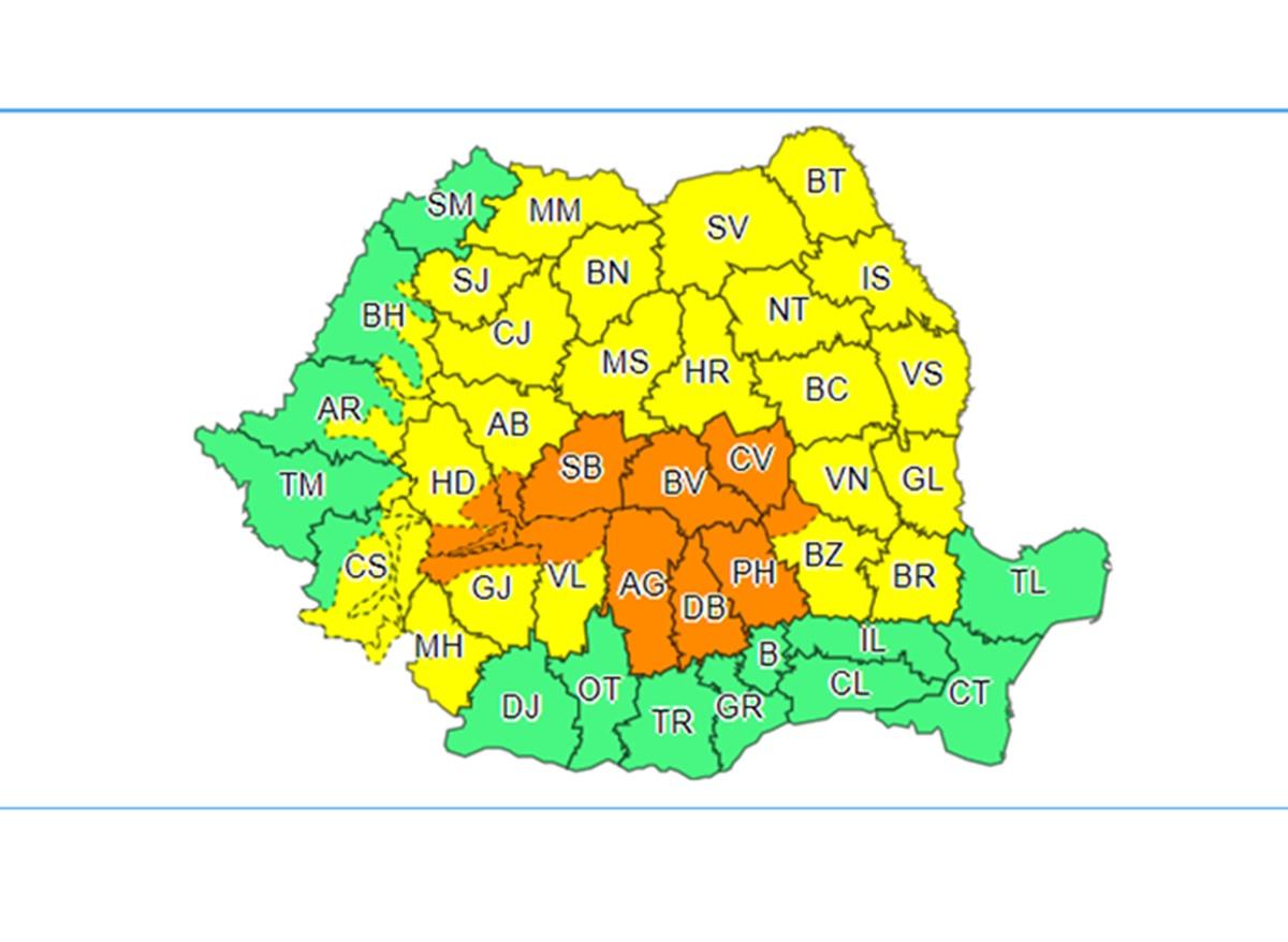 Ploile fac ravagii în România. Alerte ANM de vreme severă