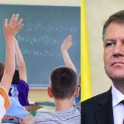 Se schimbă numărul elevilor dintr-o clasă. Legea a fost promulgată de Klaus Iohannis