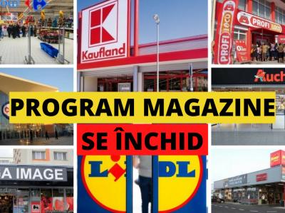 Program magazine: 23 octombrie 2021! La ce ora se închid magazinele azi: Auchan, Carrefour, Cora, Lidl, Mega Image, Penny și Profi