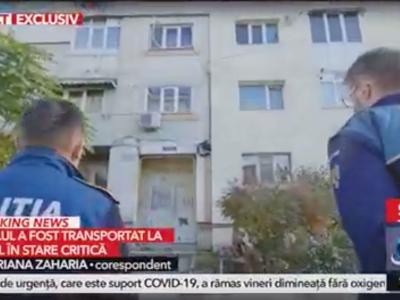 Mioveni: O fetiță de 2 ani a căzut de la etajul doi cu părinții în casa